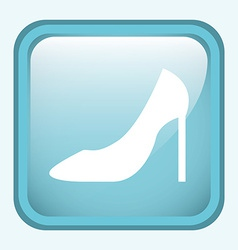 shoe woman design vector image