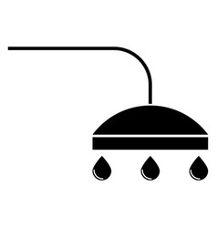 Shower the black color icon vector