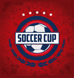 soccer world cup tournament vector image