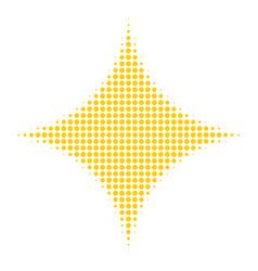 sparkle star halftone icon vector image