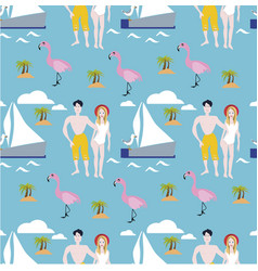 summer holidays tropical design for banner vector image