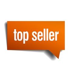 top seller orange speech bubble isolated on white vector image