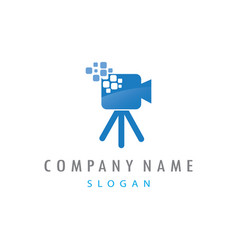 video camera logo vector image