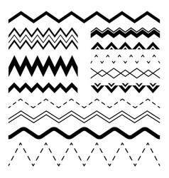 wavy zigzag wiggle jagged waves parallel sinus vector image