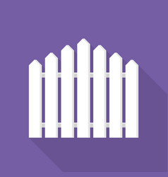 white fence icon flat style vector image