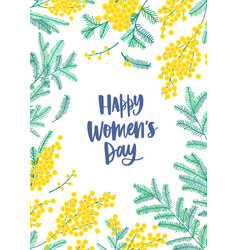 women s day flyer or poster template with wish vector image