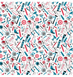 working tools background labor day seamless vector image