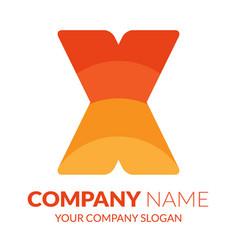 x logo vector image