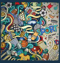 cartoon cute doodles sport frame vector image