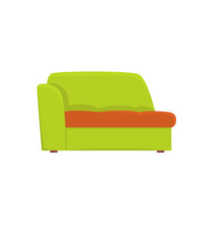 green couch living room or office interior vector image
