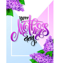 hand drawn mothers day greeting card with vector image vector image