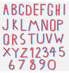 red blue alphabet vector image vector image