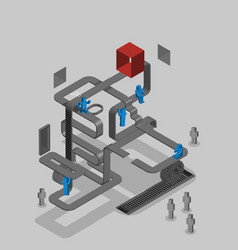 team work competition cooperation isometric vector image vector image