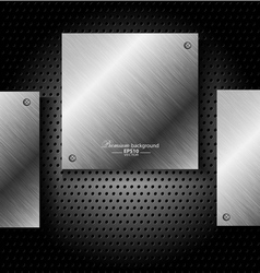 Abstract black metal technology background vector image