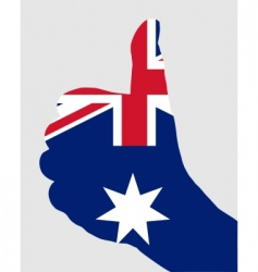 Australian hand signals vector image vector image