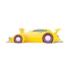 cartoon orange car isolated on white vector image