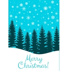 Christmas card with trees vector image