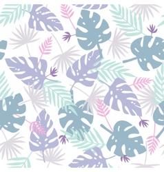 Cute purple leafs pattern vector image vector image