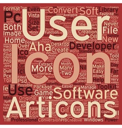 Developers Icon Toolkit text background wordcloud vector image vector image