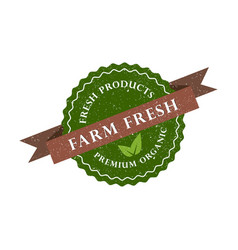 farm fresh product premium organic icon vector image vector image