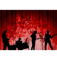 Red musical design vector image