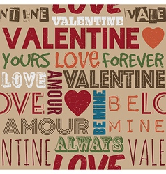 valentine pattern vector image vector image