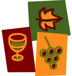 wine and grape vector image