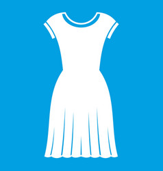 woman dress icon white vector image vector image