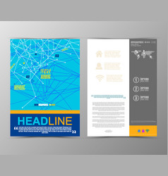 Abstract geometric brochure template map vector