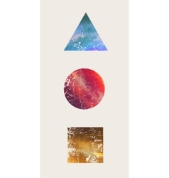 Beautiful composition Triangle Round Square vector image vector image