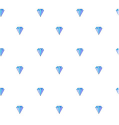 cute seamless pattern with blue gemstones vector image
