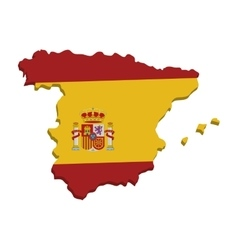 spain map geography isolated icon vector image