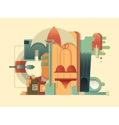 Summer concept design flat vector image vector image