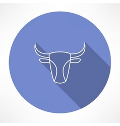 bulls head icon vector image