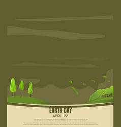 print design for earth day country landscape vector image vector image
