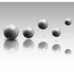 Spheres in motion vector image