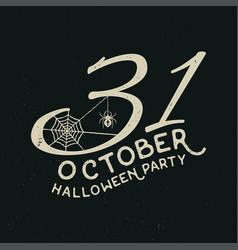 31 october halloween party concept vector