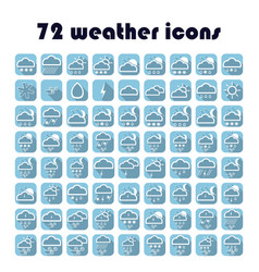 49 weather icons set vector image
