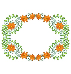 A vine plant with flower border vector image