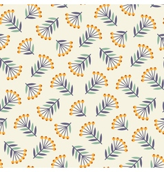 Abstract seamless pattern with plants vector
