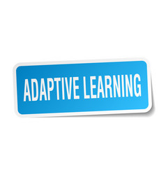 Adaptive learning square sticker on white vector