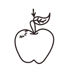 Apple cartoon draw vector