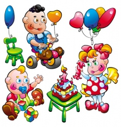baby birthday vector image