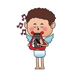 Baby cupid cartoon icon vector
