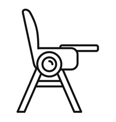 baby eat seat chair icon outline style vector image