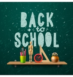 Back to school template with schools workspace vector image
