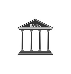 bank building icon isolated flat design vector image