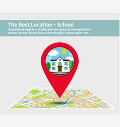 best location school vector image