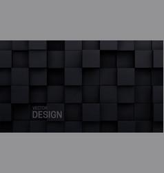 black cubes random mosaic background vector image