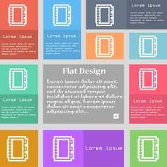 Book icon sign Set of multicolored buttons with vector image